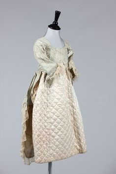 Girl's 18th century-style fancy dress, 1880's (the striped silk is from the 1770's) Click to go to the absentee bidding page. This Kerry Taylor auction will end October 16th at 10:30 AM GMT (5:30 AM EST). You will need to register to bid ahead of time.
