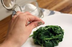 Like other dark green, leafy vegetables, spinach is a nutritional powerhouse. Because all methods of cooking destroy some nutritional value, the best way to maximize nutrient intake is to eat fresh spinach raw. Cook Fresh Spinach, Nutritional Value, Spinach Leaves, Fresh Basil, Vegetables, Eat, Cooking, Healthy, Recipes