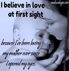 "I believe in ""love at first sight"""