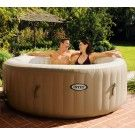 Get cozy, relax, and indulge yourself in the Intex PureSpa Bubble Therapy Inflatable Spa. With the touch of a button, adjust the temperature to best suit your comfort level. Pamper yourself and relax in this Intex PureSpa Bubble Therapy Inflatable Spa. Piscina Intex, Piscina Spa, Whirlpool Bathtub, Whirlpool Galaxy, Spa Intex 4 Places, Pure Spa Intex, Portable Bathtub, Gardens, Shopping