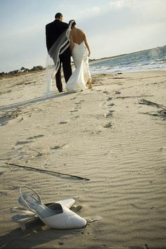 I am all about going barefoot. The sand is much better when it squishes between your toes. Romantic Wedding Photos, Romantic Weddings, Wedding Pics, Wedding Ideas, Romantic Times, Romantic Moments, Beach Weddings, Wedding Stuff, Wedding Looks