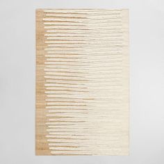 Ivory Wool Zigzag Flatweave Wool Nolen Area Rug