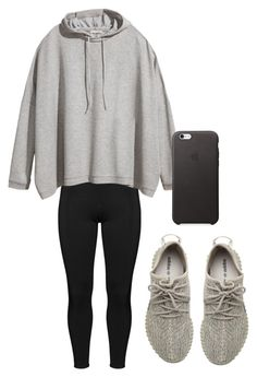 """Lazy Yeezy"" by ajamarks64 ❤ liked on Polyvore featuring Boris, H&M and adidas Originals"