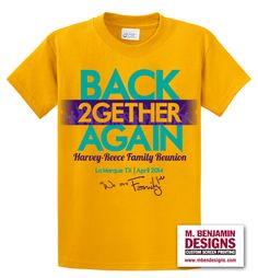 Color Twist! Only at M. Benjamin Designs.   #customscreenprintshirts #mbendesigns #FamilyReunion #WeAreFamily