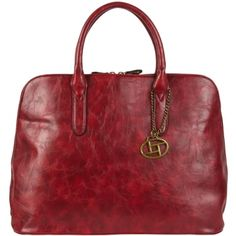 Corrine Bowler Satchel - #handbagheaven large red handbag that will fit your iPad, laptop, books, and more!