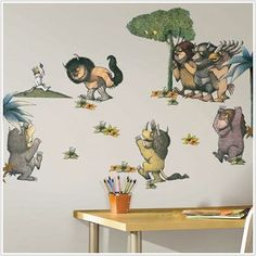 where the wild things are wall stickers baby grabinger pintere decals peel
