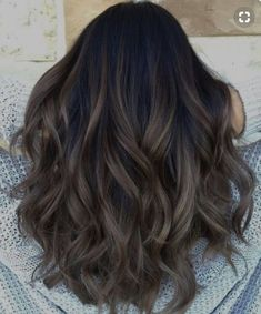 Brunette Color, Ombre Hair Color, Brown Hair Colors, Brunette Ombre, Brown Highlights On Black Hair, Dark Ash Brown Hair, Red Ombre, Ombre For Brunettes, Ombre On Black Hair