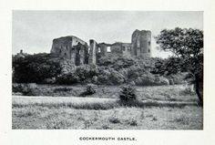 1912 Print Ancient Norman Cockermouth Castle Ruins Lake District Cumbria XGCA7 The Lady Of Shalott, Norman Castle, Castle Ruins, Fortification, Abandoned Homes, National Trust, Cumbria, Historical Romance, Ancient Civilizations