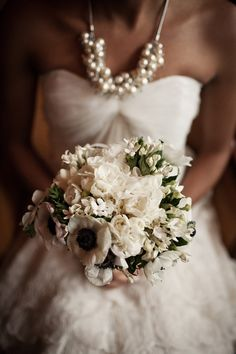white blooms make a romantic and sophisticated bridal bouquet