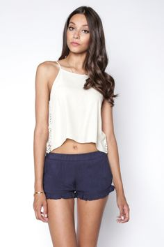 90s Lullaby - RUFFLE ME UP NAVY SHORTS, $18.99 (http://www.90slullaby.com/shop/ruffle-me-up-navy-shorts/)