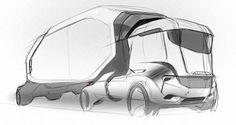Car Design Sketch, Truck Design, Car Sketch, Industrial Design Sketch, Big Rig Trucks, Cool Sketches, Car Drawings, Commercial Vehicle, Transportation Design