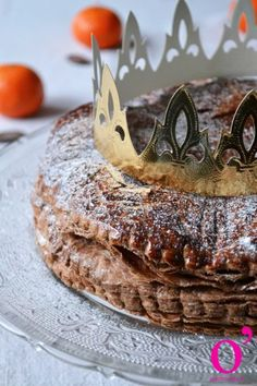 Galette des rois au chocolat et zestes d'orange Cake, Board, Kitchens, Food Cakes, Cakes, Tart, Cookies, Torte, Cookie