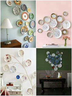 Decorating with Plates Around a table