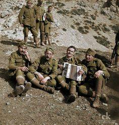 Greek soldiers rest in Albania, 1941 - pin by Paolo Marzioli