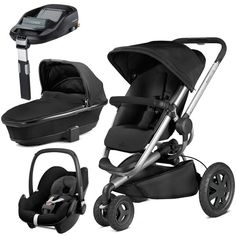 Quinny Buzz Xtra Rocking Black With Carrycot And Pebble With Familyfix Base Quin Quinny Stroller Ideas Of Quinny Stroller Quinny Quinny Stroller Stroller
