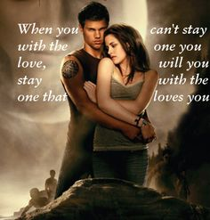 Jacob Black (Taylor Lautner) & Bella Swan (Kristen Stewart) 'The Twilight Saga'