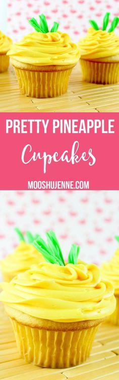 Pretty Pineapple Cupcakes