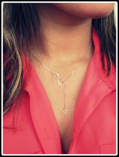 Personalized Gold Infinity Lariat new design by Keepitclose, $33.00