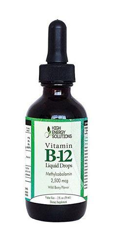 HIGH ENERGY SOLUTIONS B12 Vitamin - 2 Fluid Ounces (60 ml) Methylcobalamin  #HighEnergySolutions
