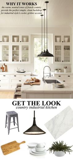 How to Design a French Country Industrial Kitchen. French Country meets industrial accents for the perfect kitchen. #kathykuohome #decor #home