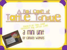 Like the book A Bad Case of Tattle Tongue by Julia Cook? Well check out this unit of activities to use along with the book that helps students and children understand what tattling is and how to differentiate between a warning and a tattle. Check it out from my TpT Store http://www.teacherspayteachers.com/Product/Bad-Case-of-Tattle-Tongue-Mini-Unit