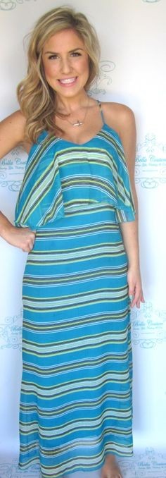 Blue Stripe Maxi $46.50