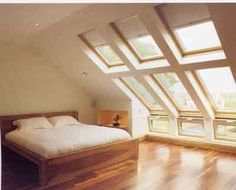 Attic bedroom with view and light
