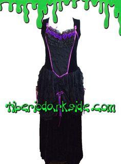 Tiberio Dark Side - Vestido Isabella Rosas Morado