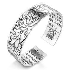 Beautiful Bracelet Buddhist plated silver