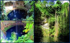 A Sacred Blue #Cenote or #Ik_Kil is one of large #sinkholes in #Mexico http://en.directrooms.com/hotels/country/7-88/