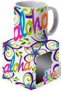 Hawaii Coffee Mug Bold Aloha 2 Pack