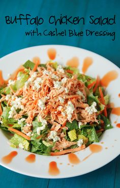 Buffalo Chicken Salad with Dressing