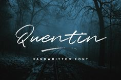 Quentin is a font that is coming from a handwriting. This typeface turns out to look authentic with its rough texture from dry strokes