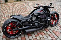 """Harley Davidson V Rod """"Vermelho"""" por Fredy - Bike's - Motos Bobber Motorcycle, Cool Motorcycles, Triumph Motorcycles, Harley Davidson Motorcycles, Motorcycle Touring, Women Motorcycle, Vintage Motorcycles, Indian Motorcycles, Cruiser Motorcycle"""