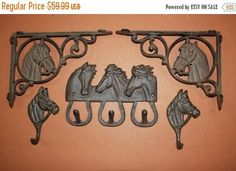 13% OFF 5 Farmhouse horse wall decor horse shelf brackets