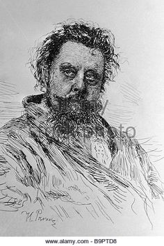 Modest Petrovich Musorgsky by Ilya Repin print reproduction 1885 - Stock  Image