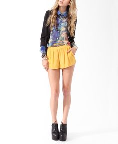 Textured Swing Shorts   FOREVER21 - 2000045971