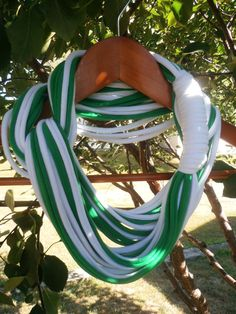 Infinity Scarf  Green and White Color by sister9designs on Etsy, $15.00