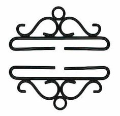 """Pair of black hardware has an opening of 22 cm (8.7"""").  Perfect for finishing bellpulls or wall hangings.  Add a bell (5571BR or 703-592-0789) or a heart (703-592-3611) on the larger bottom loop for extra decoration.   See related products below for more sizes and styles."""