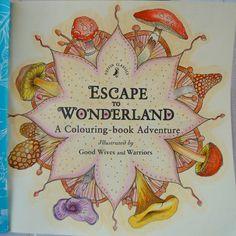 Escape to Wonderland #escapetowonderland #escapetowonderlandcolouringbook #coloringbook #antistresscoloringbook #antistresscoloring #coloringforadults #mushrooms