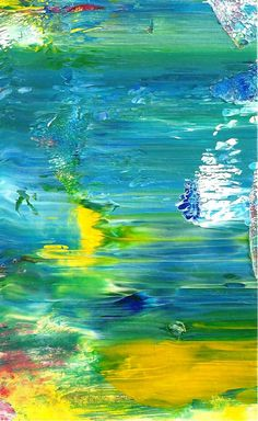 Original Abstract Ocean Acrylic Mini Painting in by rostudios, $10.00