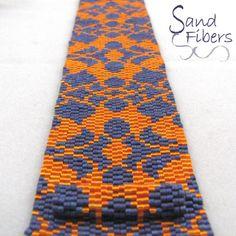 Peyote Pattern Flowering Lace Peyote Cuff / by SandFibers on Etsy