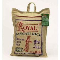 Royal Basmati Rice, 15-Pound Bag $20.00. The only rice I buy!