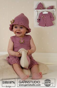 DROPS has many free crochet dress patterns for babies and girls.