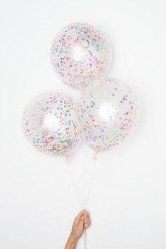 DIY Confetti Balloons - Tiny Rainbow Confetti