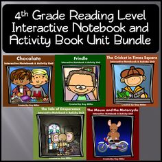 4th Grade Reading Level Interactive Notebook and Activity Series Bundle ~~~ Save by purchasing all five book units together. $