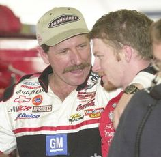 Dale & Dale, Jr...Feb. 2001. This just shows how redneck I really am. I miss Dale Sr. Nascar just isnt the same without him!