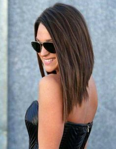 55 Best Long Angled Bob Hairstyles We Love – HairstyleCamp Long Angled Bob Hairstyles, Pixie Haircuts, Long Angled Haircut, Layered Haircuts, Hairstyles Haircuts, Long Aline Haircut, Braided Hairstyles, Layered Lob, Medium Layered