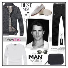 """""""NewChic 4 . 24.12.2016"""" by goharkhanoyan ❤ liked on Polyvore featuring Master & Dynamic, Ray-Ban, Chopard, men's fashion, menswear and newchic"""