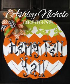 Its fall, ya'll!! Our trendy chevron wooden pumpkins give your fall decor a…